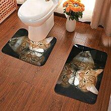 Badematte mit Katzenpfoten, 2-teiliges Set, weiche