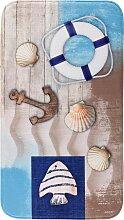 Badematte mit Memory Schaum, blau (Badematte rund