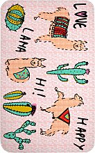 Badematte mit Memory Schaum, rosa (Vorleger für