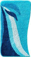 Badematte Norma, blau (Vorleger für Stand-WC 45/50 cm)