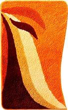 Badematte Norma, orange (Vorleger für Stand-WC
