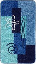 Badematte Ocean, blau (Duschvorlage halbrund 50/80