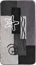 Badematte Ocean, grau (Vorleger für Stand-WC 45/50 cm)
