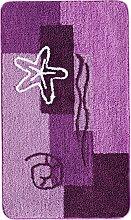 Badematte Ocean, lila (Duschvorlage halbrund 50/80