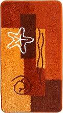 Badematte Ocean, orange (Vorleger für Stand-WC