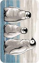 Badematte Pingu, Memory Schaum, blau (Vorleger