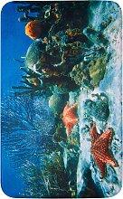 Badematte Reef, Memory Schaum, blau (Vorleger für Hänge-WC 45/50 cm)