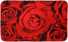Badematte Rosen Sanilo, 70 x 110 cm, sehr weich,