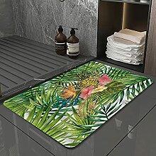 Badematte, rutschfest Waschbar Badezimmerteppich