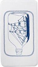 Badematte Schiff, Memory Schaum, blau (Vorleger für Hänge-WC 45/50 cm)