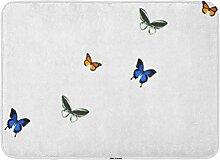 Badematte Schmetterlinge Schmetterling Muster