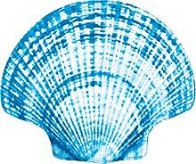 Badematte Sea Shell, Memory Schaum, blau (Badematte 87/100 cm)