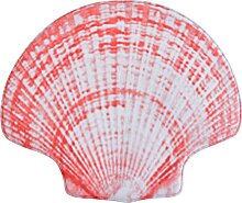 Badematte Sea Shell, Memory Schaum, rot (Badematte 52/60 cm)