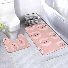 Badematte Set Vektor Kinder Muster Niedliches