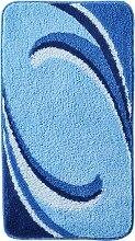 Badematte Simon, blau (Vorleger für Hänge-WC 45/50 cm)