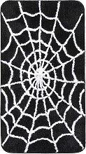 Badematte Spider, schwarz (Vorleger für Hänge-WC 45/50 cm)
