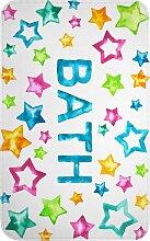 Badematte Stars, Memory Schaum, blau (Vorleger für Stand-WC 45/50 cm)