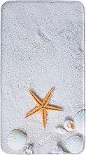 Badematte Strand, Memory Schaum, beige (Vorleger für Stand-WC 45/50 cm)