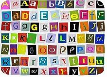 Badematte Teppich Alphabet für Kinder ABC