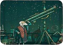 Badematte Teppich Astronom mit Teleskop Starry