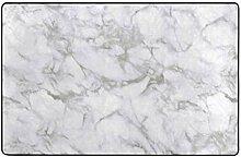 Badematte Teppich,Beige Carrara Marmor Calacatta