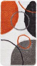 Badematte Till, orange (Vorleger Hänge-WC, Badematte 50/90cm, WC-Deckelbezug))