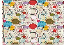 Badematte und Bodenmatte 50x80cm,Blumen, abstrakte