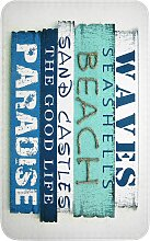 Badematte Wave, Memory Schaum, blau (Vorleger für