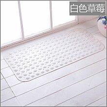 Badematte wc Bad Dusche Türmatten wasserdichtem PVC-matte Tür Fußmatte, 49 X 49 CM, Weiß