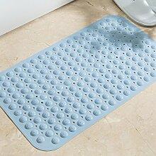 Badematte wc Bad Dusche Türmatten wasserdichtem PVC-matte Tür Fußmatte, 49 X 49 CM, Blau