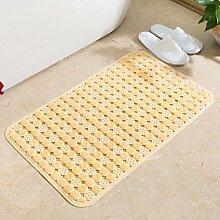 Badematte wc Bad Dusche Türmatten wasserdichtem PVC-matte Tür Fußmatte, 36 x 71 cm, gelb