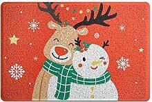 Badematte Weihnachten Cartoon Rutschfeste Eingang