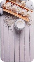 Badematte Wellness, Memory Schaum, beige (Vorleger für Stand-WC 45/50 cm)