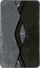 Badematte William, grau (Vorleger für Stand-WC 45/50 cm)