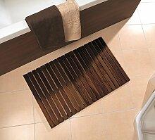 Badematte WILMA dunkel von NICOL B-Ware Nr. 5313 Badvorleger Vorleger Holzmatte Badezimmermatte Holz