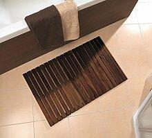 Badematte WILMA dunkel von NICOL B-Ware Nr. 5319 Badvorleger Vorleger Holzmatte Badezimmermatte Holz