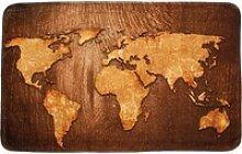 Badematte World Map Sanilo, 50 x 80 cm, sehr