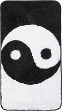 Badematte Yin und Yang, schwarz (Vorleger für