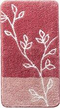 Badematte Zweige, rosa (Vorleger für Hänge-WC 45/50 cm)