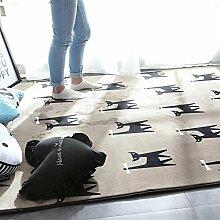 Badematten Persönlichkeit Schlafzimmer Wohnzimmer Couchtisch Matten schwarz und weiß Tür Matten Nachttisch Teppich Decken , 4 , 45*75