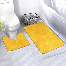 Badematten-Set Abstrakte Malerei Gelb 2-teiliges