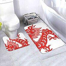Badematten-Set Chinese Dragon Symbol 2012 Jahr