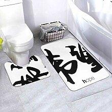 Badematten-Set Chinesische Kalligraphie