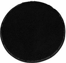 Badematten Set Clode® 40*28cm Soft Badschlafzimmer Fußboden Dusche Runde Mat Teppich Anti-Rutsch (Schwarz)