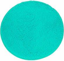 Badematten Set Clode® 40*28cm Soft Badschlafzimmer Fußboden Dusche Runde Mat Teppich Anti-Rutsch (Blau)
