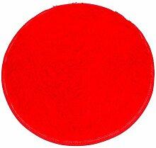 Badematten Set Clode® 40*28cm Soft Badschlafzimmer Fußboden Dusche Runde Mat Teppich Anti-Rutsch (Rot)