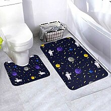 Badematten-Set Cosmic Space Flat Style 2-teiliges