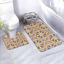 Badematten-Set Mosaik Oriental Traditional Antique