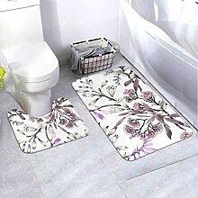Badematten-Set-Muster Lila Sommer-2-teiliges