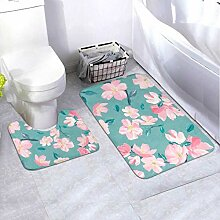 Badematten-Set-Muster Pink Sakura Blossom